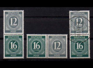 All. Bes., W 158 + S 294 postfrisch + S 294 gestempelt, Mi. 34,- (0382)