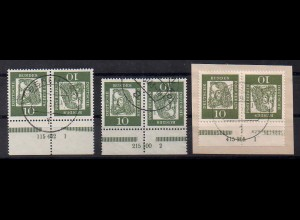 Berlin, K 3 HAN, alle 3 verschiedene, gestempelt, Mi. 170,- (0403)