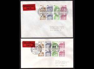 Berlin, HBl. 20 (2x), davon 1x Orts-Eil-FDC (1.11.1980), Mi. 80,- (0417)