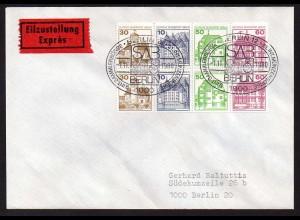 Berlin, HBl. 20, Orts-Eil-FDC (1.11.1980), Mi. 40,- (0418)