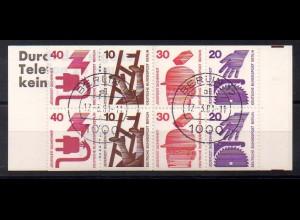 Berlin, MH 9 d II, Berlin-Stempel, Heftblatt bereits 38,- (0428)