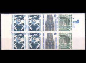 Berlin, MH 14 PF I, mit Plattenfehler, postfrisch, Mi. 45,- (0463)