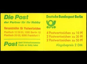 Berlin MH 11 dc, tadellos postfrisch, Mi. 40,- (0467)