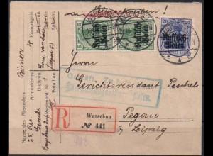 Bes. I. WK, Polen, Zensur-R-Brief (0472)