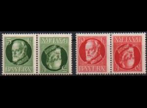 Bayern, Zd. K 3 + 4, postfrisch, Mi. 18,- (0553)