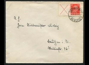 Dt. Reich, W 23, portoger. Einzelfrankatur, Mi.-Handbuch 450,- (0649)