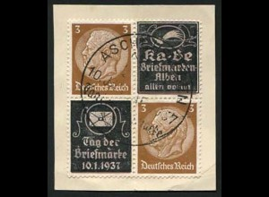 Dt. Reich, Mi. P-V 5, gestempelt auf Briefstück, Mi.-Handbuch 100,- (0650)
