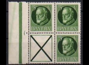 Bayern, Zd. S 19, postfrisch, ungeknickt, nicht angetrennt, Mi. 45,- ++ (0687)