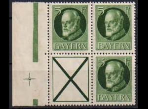 Bayern, Zd. S 19, postfrisch, ungeknickt, nicht angetrennt, Mi. 45,- ++ (0688)