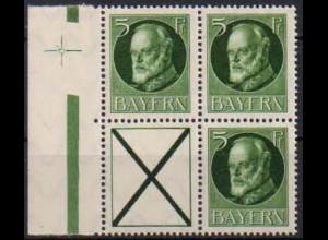 Bayern, Zd. S 19, postfrisch, ungeknickt, nicht angetrennt, Mi. 45,- ++ (0689)