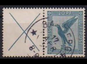 Dt. Reich, W 21.1, gestempelt, ungeknickt, Mi. 50,- (0758)