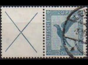Dt. Reich, W 21.1, gestempelt, ungeknickt, Mi. 50,- (0760)