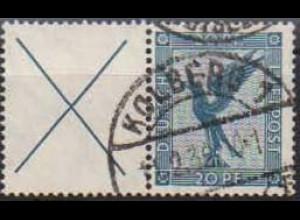 Dt. Reich, W 21.1, gestempelt, ungeknickt, Mi. 50,- (0761)