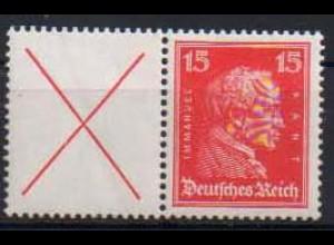 Dt. Reich, W 23, postfrisch, vollständige Zähnung, Mi. 150,- (0802)