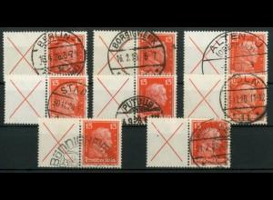 Dt. Reich, W 23, gestempelt, vollständige Zähnung, Mi. 200,- (0808)