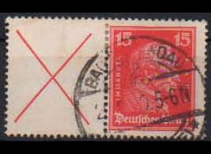 Dt. Reich, W 23, gestempelt, vollst. Zähnung, gepr. BPP, Mi. 200,- (0809)