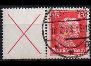 Dt. Reich, W 23, gestempelt, ungeknickt, Mi. 200,- (0813)