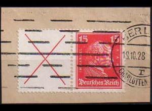 Dt. Reich, W 23, gestempelt, vollständige Zähnung, Mi. 200,- (0815)