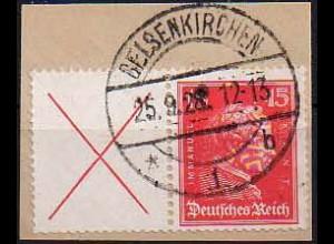 Dt. Reich, W 23, Briefstück, Mi. 200,- (0817)