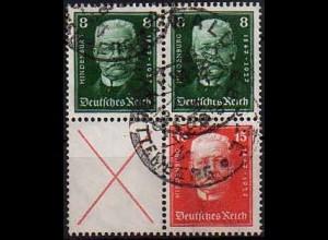 Dt. Reich, S 36 + 37, gestempelt, vollst. Zähnung, Mi. 190,- (0847)