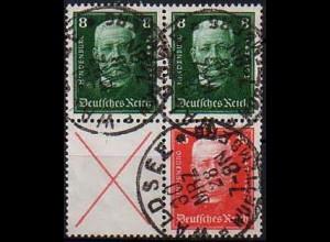 Dt. Reich, S 36 + 37, gestempelt, vollständige Zähnung, Mi. 190,- (0851)