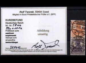 Dt. Reich, S 8 aa, gestempelt, Kurzbefund BPP, Mi. 300,- (0876)