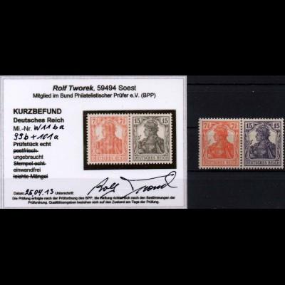 Dt. Reich, W 11 ba, Falz, vollst. Zähnung, Kurzbefund BPP, Mi. 300,- (0885)