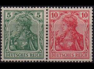 Dt. Reich, W 7 I ab, Falz, vollständige Zähnung, Mi. 60,- (0898)
