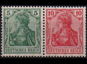 Dt. Reich, W 7 I ab, Falzrest, Mi. 60,- (0899)