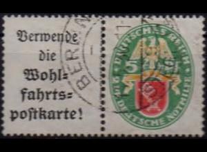 Dt. Reich, W 34, gestempelt, vollständige Zähnung, Mi. 60,- (1055)
