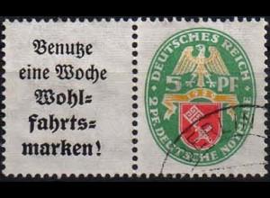 Dt. Reich, W 35, gestempelt, vollständige Zähnung, Mi. 60,- (1059)