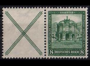 Dt. Reich, W 39, Falz/Falzspur, vollständige Zähnung, Mi. 24,- ++ (1119)