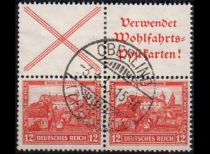 Dt. Reich, S 100 + S 101, gestempelt im Viererblock, Mi. 40,- (1172)