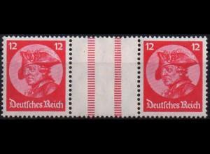 Dt. Reich, WZ 10, Falz/Falzspur, ungeknickt, Mi. 48,- (1199)