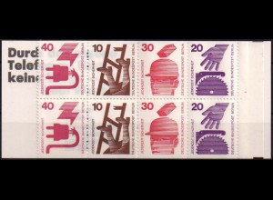 Berlin, MH 9 d I mit Plattenfehler I und II, postfrisch, Mi. 150,-