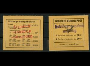Bund, MH 14g, je 9 MH mit rotem u. violettem Aufdruck, postfr., Mi. 1080,-(1390)