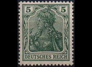 Dt. Reich, Mi. 85 II e, seltene Farbe, postfrisch, gepr. BPP, Mi. 500,- (1403)