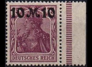 Dt. Reich, Mi. 157 II dgz, postfrisch, durchgez. Rand, Mi. 60,- (1406)