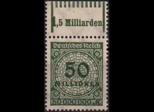 Dt. Reich, Mi. 321 A P/W, Kombi-Druck, OR 1'11'1, postfrisch, Mi. 30,- (1411)