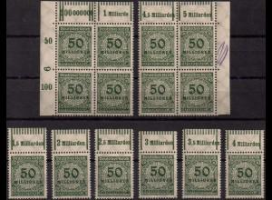 Dt. Reich, Mi. 321 A P/W, alle 10 Oberränder, postfrisch, Mi. 450,- (1417)