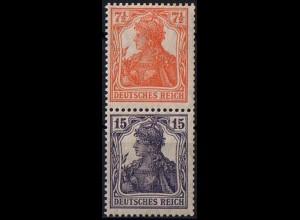 Dt. Reich, S 8 ba, ungebraucht mit Falz, Mi. 180,- (1537)