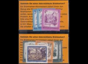 Österreich, MT 2 wy, zwei versch. postfrische Markentäschchen, Mi. 70,- (1655)