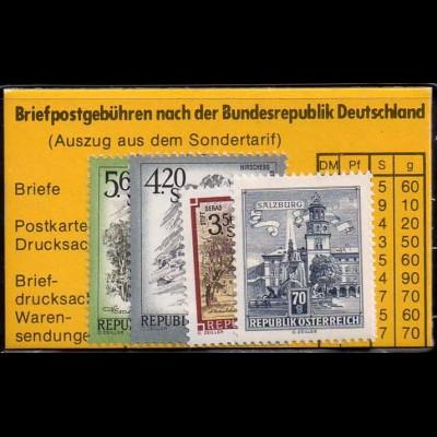 Österreich, MTS 2 wy, postfr. Markentäschchen (Sondertarif), Mi. 100,- (1662)
