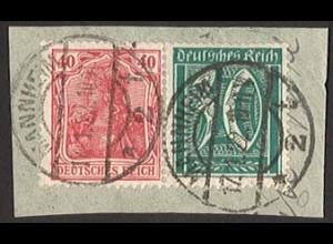 Dt. Reich, W 18, Briefst., vollständige Zähnung, gepr. BPP, Mi. 60,- (1672)