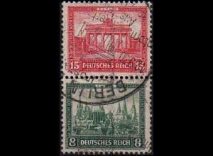 Dt. Reich, Bl S 1, Block-Zd. mit Ersttags-SST, ungeknickt, Mi. 300,- (1743)