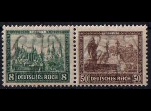 Dt. Reich, Bl W 1, Block-Zd. postfrisch, ungeknickt, Mi.-Handbuch 250,- (1754)