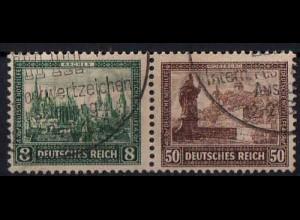 Dt. Reich, Bl W 1, Block-Zd. mit Sonderstempel, ungeknickt, Mi. 300,- (1756)