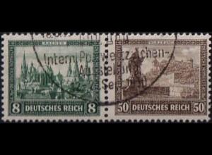 Dt. Reich, Bl W 1, Block-Zd. mit Sonderstempel, Mi.-Handbuch 300,- (1757)