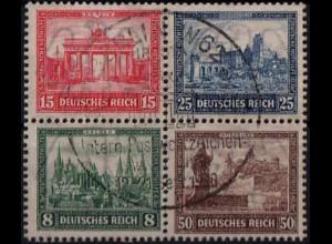 Dt. Reich, Bl Hz 1, Block-Zd., gestempelt, ungeknickt, Mi.-Handbuch 600,- (1767)