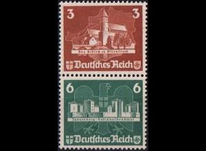 Dt. Reich, Bl S 3, Block-Zd. ohne Gummi, ungeknickt, Mi.-Handbuch 180,- (1802)